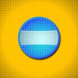 Marco azul del botón Fotos de archivo