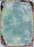 Marco azul del grunge Imágenes de archivo libres de regalías