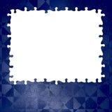 Marco azul del rompecabezas del fondo Foto de archivo