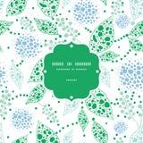 Marco azul del vector y verde abstracto de las hojas Foto de archivo libre de regalías