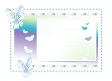Marco azul hecho del paño con los arqueamientos Imágenes de archivo libres de regalías