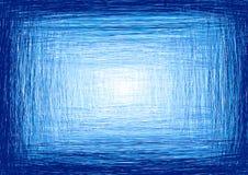 Marco azul manuscrito Imagen de archivo libre de regalías