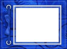 Marco azul para las fotos Fotografía de archivo