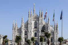 Marco Bay project for installation of `Milan Garden of the twentieth and twenty-first century` in Piazza Duomo Royalty Free Stock Image