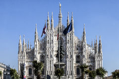 Marco Bay project for installation of `Milan Garden of the twentieth and twenty-first century` in Piazza Duomo. MILAN, ITALY - February 20, 2017: Marco Bay stock photo