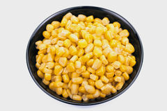 Marco  black bowl of sweet corn Royalty Free Stock Photos