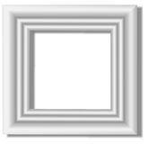 Marco blanco Fotografía de archivo