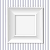 marco blanco Imagen de archivo
