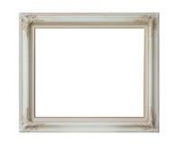 Marco blanco antiguo aislado Imagen de archivo libre de regalías