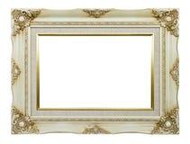 Marco blanco de la vendimia Fotografía de archivo libre de regalías