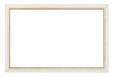 Marco blanco estrecho tallado oro fotos de archivo libres de regalías