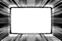 Marco blanco y negro de Grunge Imagen de archivo libre de regalías