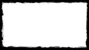 Marco blanco y negro único 03 de la frontera Fotografía de archivo