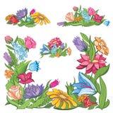 Marco brillante de la flor del vector Foto de archivo libre de regalías