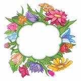 Marco brillante de la flor del vector Imagenes de archivo