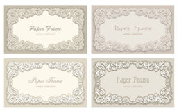 Marco brillante para la enhorabuena en un fondo beige Fotos de archivo libres de regalías