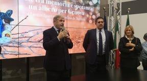 Marco Bucci en Giovanni Toti stock afbeeldingen