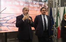 Marco Bucci en Giovanni Toti royalty-vrije stock fotografie