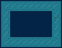 Marco céltico del nudo, azul del trullo stock de ilustración