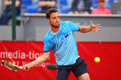 MARCO CECCHINATO. Italian tennis player Marco Cecchinato pictured at BRD Nastase Tiriac Trophy, in Bucharest, Romania, Tuesday, April 19, 2016 Stock Images