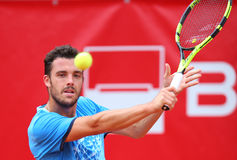 MARCO CECCHINATO. Italian tennis player Marco Cecchinato pictured at BRD Nastase Tiriac Trophy, in Bucharest, Romania, Tuesday, April 19, 2016 Royalty Free Stock Image