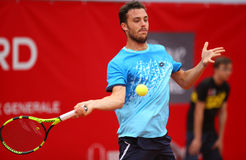 MARCO CECCHINATO. Italian tennis player Marco Cecchinato pictured at BRD Nastase Tiriac Trophy, in Bucharest, Romania, Tuesday, April 19, 2016 Royalty Free Stock Photo