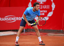MARCO CECCHINATO. Italian tennis player Marco Cecchinato pictured at BRD Nastase Tiriac Trophy, in Bucharest, Romania, Tuesday, April 19, 2016 Stock Photography
