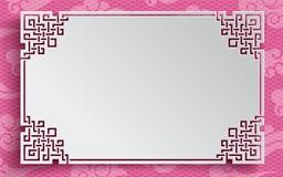 Marco chino del modelo con las nubes Fotos de archivo libres de regalías