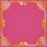 Marco chino del oro del modelo Imagenes de archivo