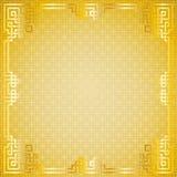 Marco chino del oro del modelo Fotos de archivo