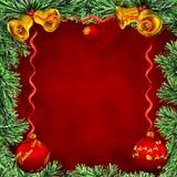 Marco Christmas-kaart Royalty-vrije Stock Fotografie
