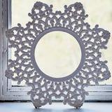 Marco a cielo abierto blanco para los espejos o las fotos fotos de archivo libres de regalías
