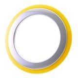 Marco circular del fondo abstracto aislado Imagenes de archivo