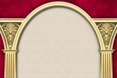 Marco clásico de la columna y del arco imagen de archivo libre de regalías