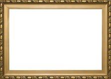 Marco clásico de oro de madera Fotografía de archivo