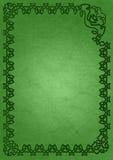 Marco céltico - verde Fotografía de archivo libre de regalías