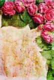 Marco color de rosa de la vendimia Fotografía de archivo libre de regalías