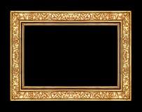 marco color de rosa del oro aislado en la trayectoria negra del fondo y de recortes foto de archivo libre de regalías