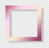Marco color de rosa de la mancha de la hoja del oro La decoración brillante rosada de la textura del grunge es Foto de archivo libre de regalías