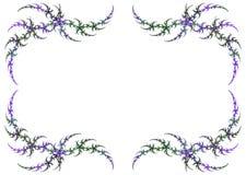 Marco coloreado carnaval del fractal con la copia blanca S Foto de archivo libre de regalías