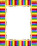Marco coloreado de los lápices Imagen de archivo libre de regalías