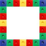 Marco coloreado del cuadrado del bloque Imagen de archivo