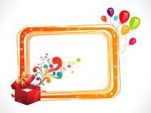 Marco colorido abstracto del cumpleaños con el rectángulo mágico Fotografía de archivo