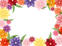 Marco colorido de la flor Imágenes de archivo libres de regalías