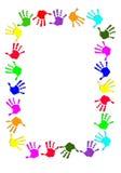 Marco colorido de la mano Fotografía de archivo