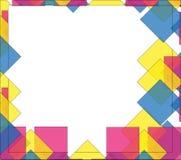 Marco colorido de los rombos de la textura imágenes de archivo libres de regalías