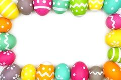 Marco colorido del huevo de Pascua Foto de archivo libre de regalías