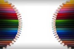 Marco colorido 15 del lápiz Fotografía de archivo
