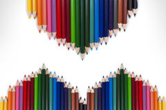 Marco colorido 19 del lápiz Imágenes de archivo libres de regalías
