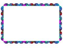 Marco colorido en blanco con el ornamento del garabato Foto de archivo libre de regalías